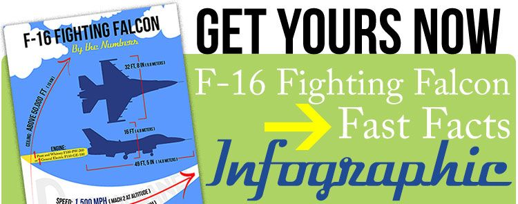 f-16 fighting falcon facts infographic