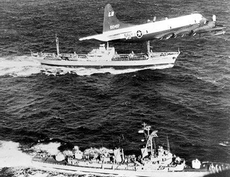 P-3 Orion during the Cuban Missile Crisis in Oct. 1962