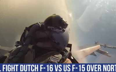 Jet Friday: Dogfight Video Between a F-16 Fighting Falcon and a F-15 Eagle