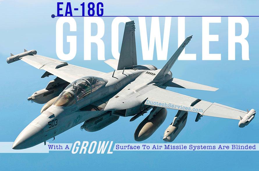 US Navy EA-18G Growler electronic warfare aircraft