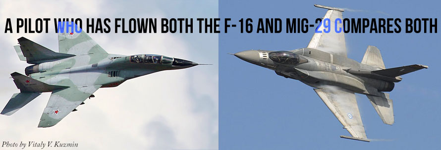 USAF Lt Col Fred Spanky Clifton flies both MiG-29 and F-16
