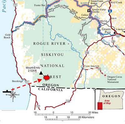 map of lookout air raids