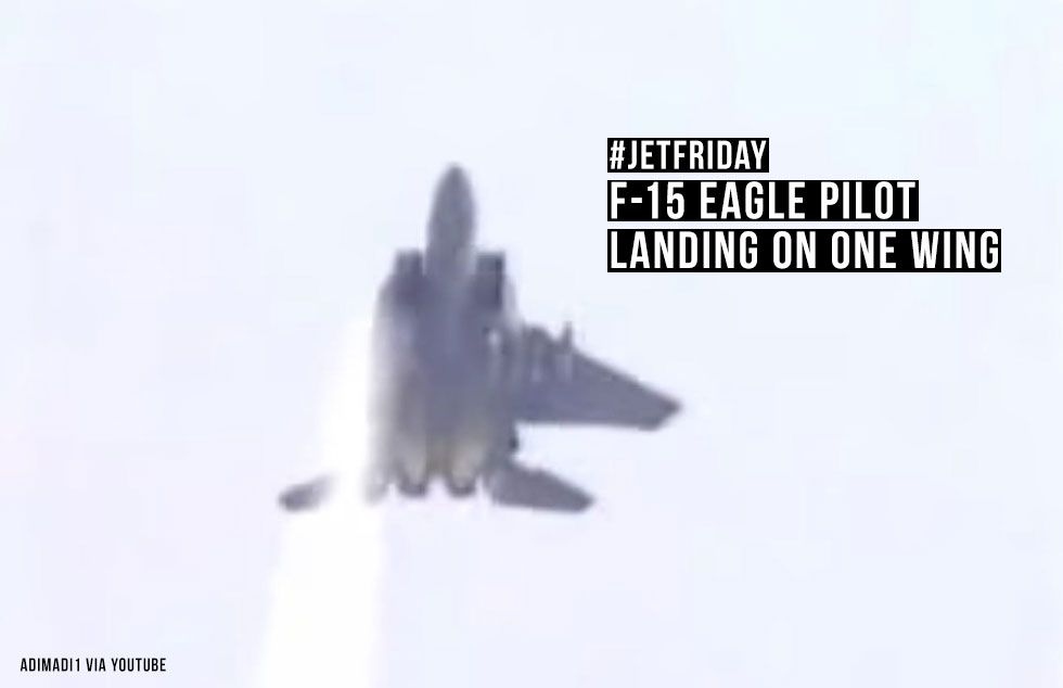 F-15 Eagle Pilot Landing On One Wing