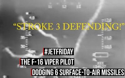 Jet Friday: The F-16 Viper Pilot Dodging 6 SAMs