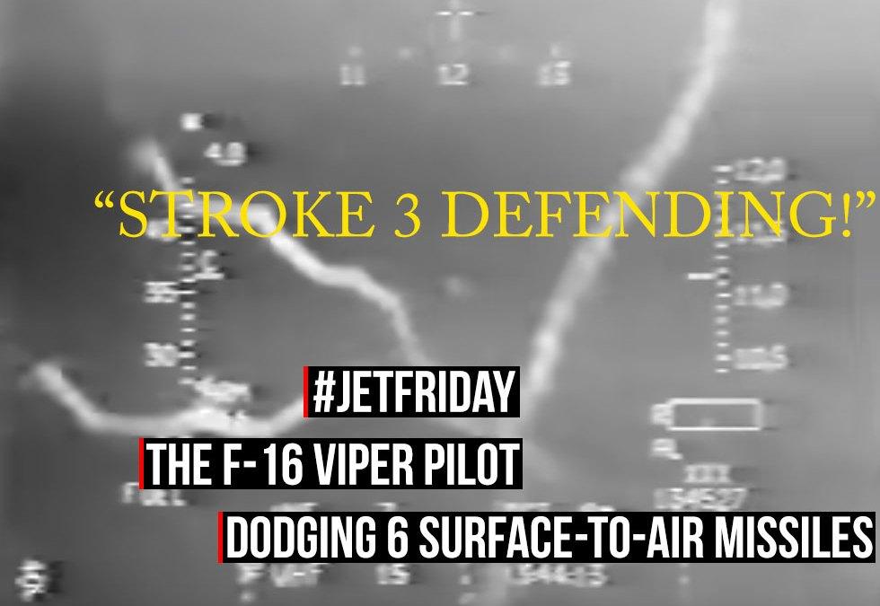 f16 viper pilot dodging 6 sams stroke 3 defending