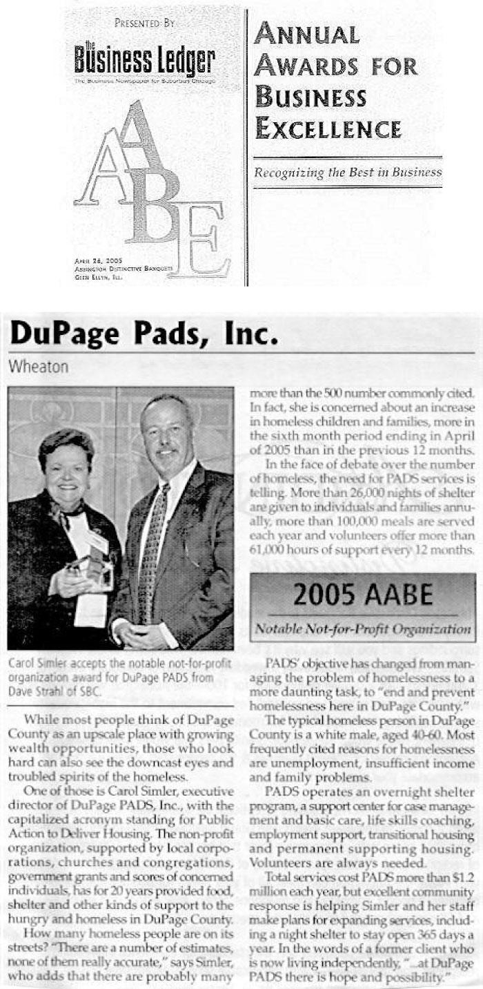 Business Ledger AABE Award 2005