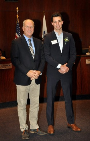 Naperville Mayor Steve Chirico with Jack at Naperville Youth Service Award Ceremony