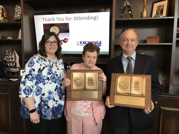 Exchange Club President Robin with Ervin Kendzora Book of Golden Deeds 2018 Award Winners: Lia, Literacy DuPage with Dave, DuPagePads