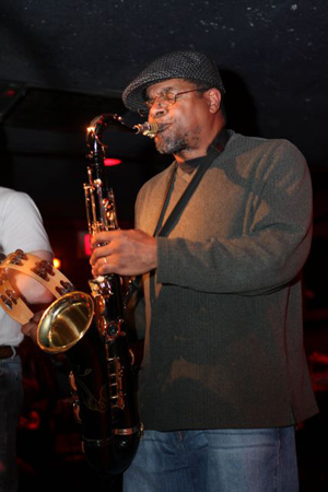 Jeff Robinson on Sax and Keys