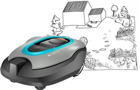 tondeuse robot gardena sileno+