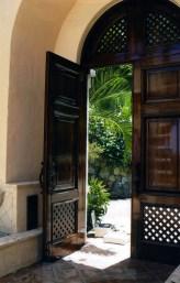 St John Varnished Antique Door