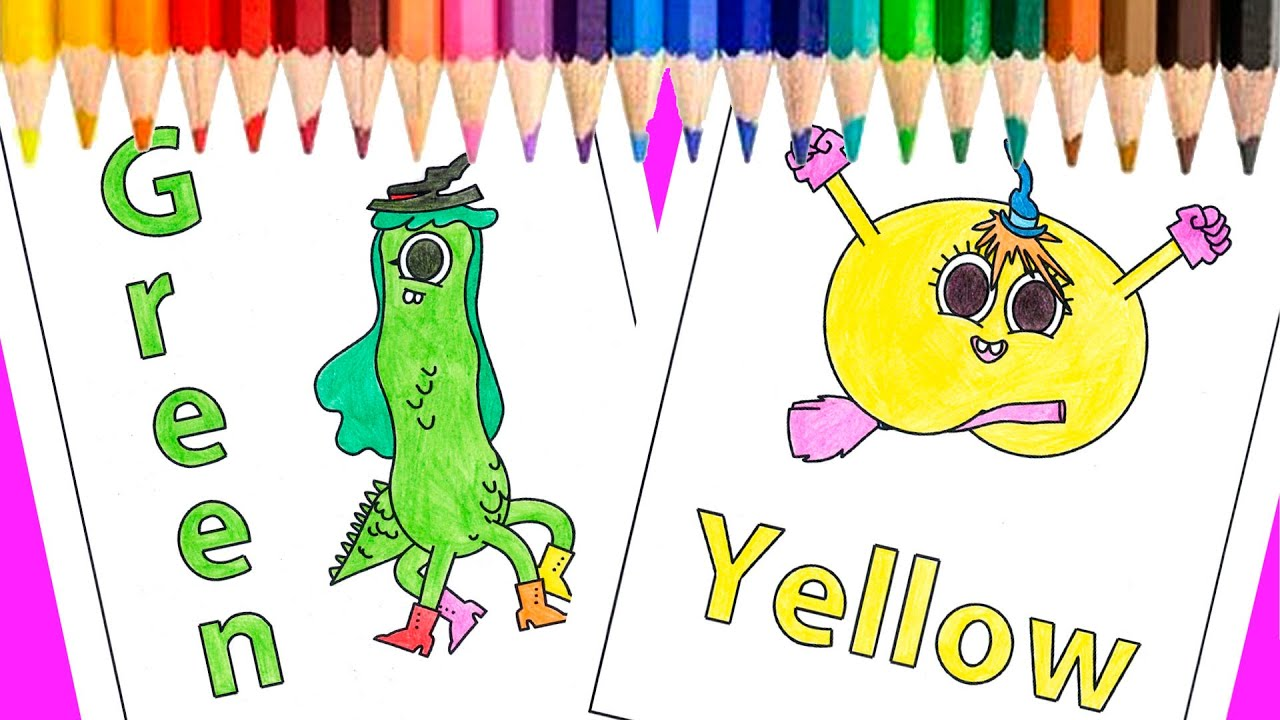 COLORING-Learn-Yellow-and-Green-Halloween-Cartoons-Print-and-Color-Pages