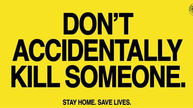 oregon launches blunt covid 19 message stay home or you could accidentally kill someone - Oregon Launches Blunt COVID-19 Message: Stay Home or You Could Accidentally Kill Someone