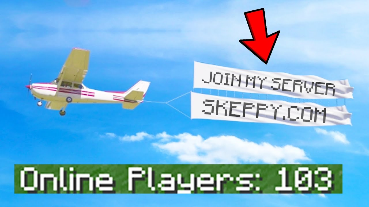 I Got A Real AIRPLANE to ADVERTISE My Minecraft Server... - I Got A Real AIRPLANE to ADVERTISE My Minecraft Server...