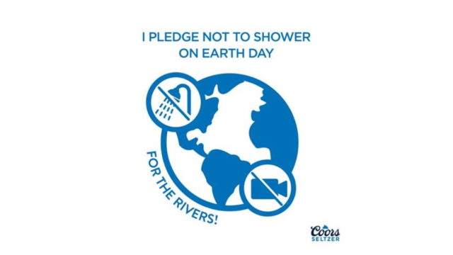 coors seltzer doesnt want you to shower on earth day - Coors Seltzer Doesn't Want You to Shower on Earth Day