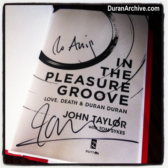 John Taylor Book Signing In Hollywood
