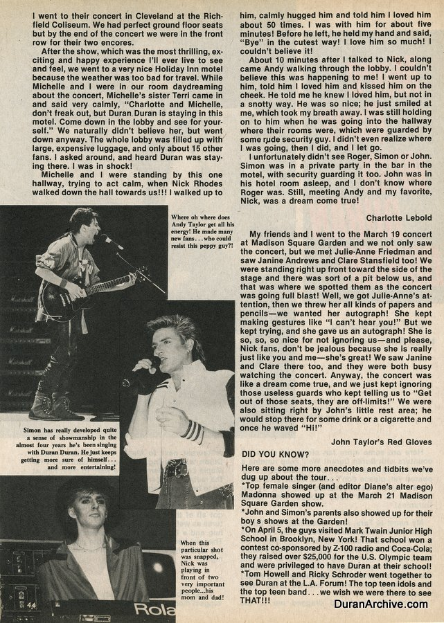More days with Duran Duran (1984)