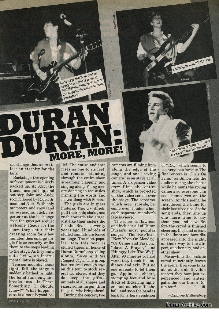 Duran Duran: More more