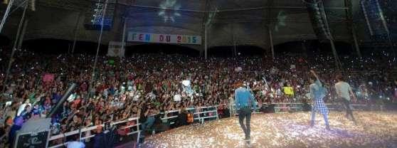 Imagen del concierto de la agrupación mexicana CD9, en Durango,
