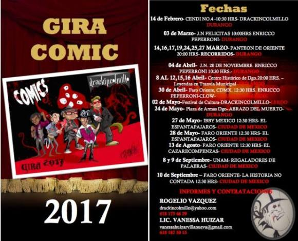 drackincolmillo gira comic 2017