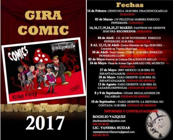 drackincolmillo gira comic 2017