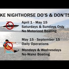 Lake Nighthorse Opens April 1