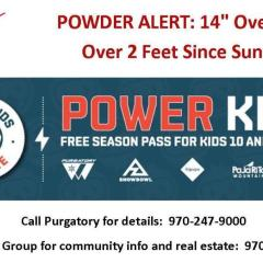 POWDER ALERT – Come enjoy a real winter in Durango!