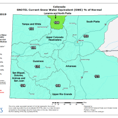 YTD Snowpack for Colorado & Utah