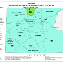 YTD Snowpack for Colorado & Utah
