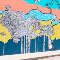 Artists Celebrate Town Plaza Mural Completion
