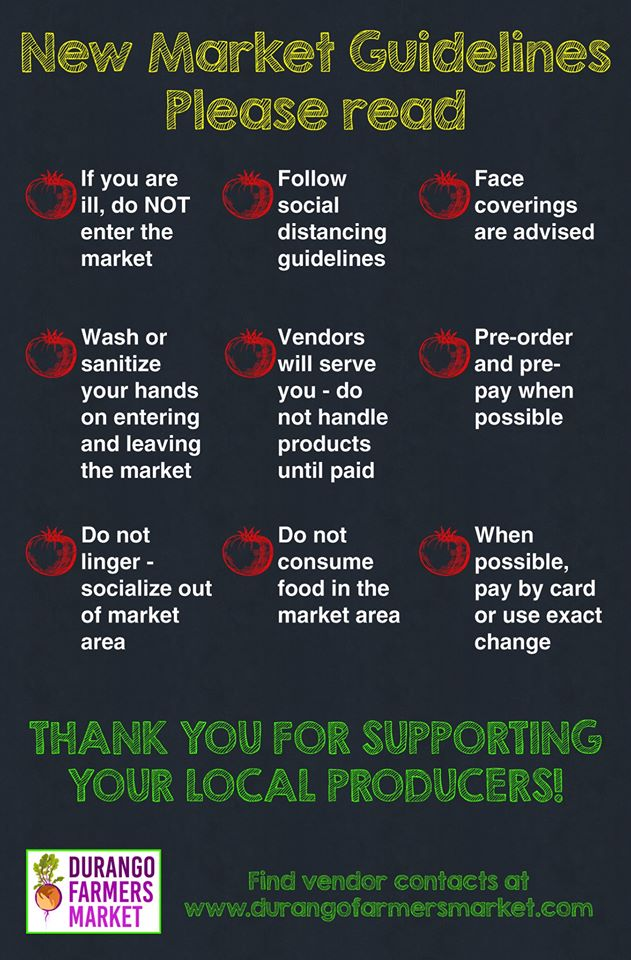 durango farmers market guidelines