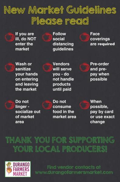 2020 farmers market guidelines