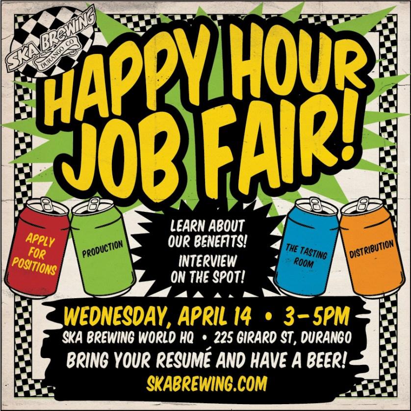 durango happy hours job fair poster