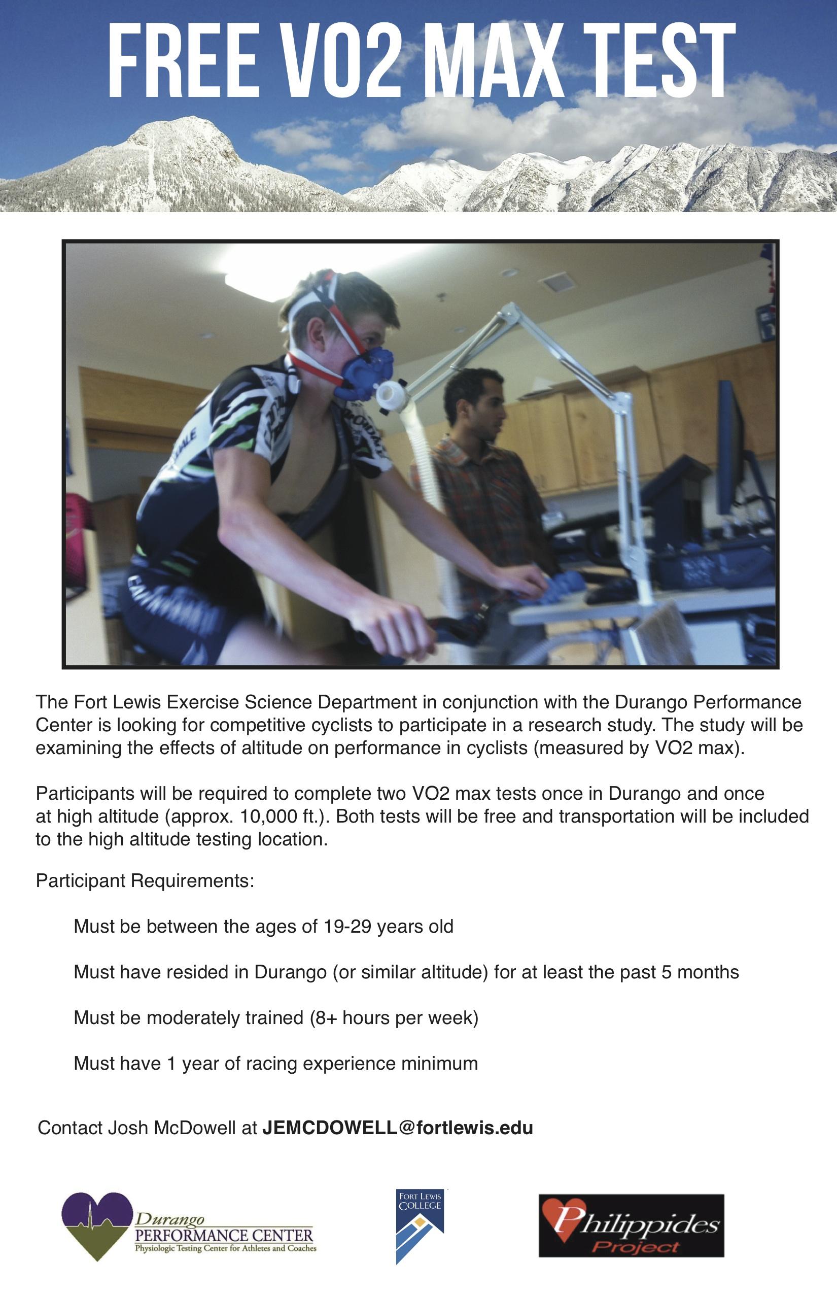 Age 19 29 Free Vo2 Max Tests Durango Wheel Club
