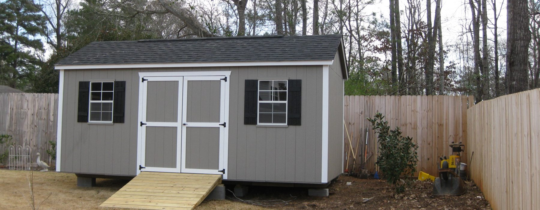 Wooden Garden Sheds For Sale in GA | DuraStor Structures on Backyard Landscaping Near Me id=56553