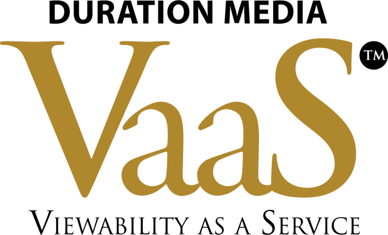 Black and Gold Duration Media VaaS™ Viewability As A Service Logo