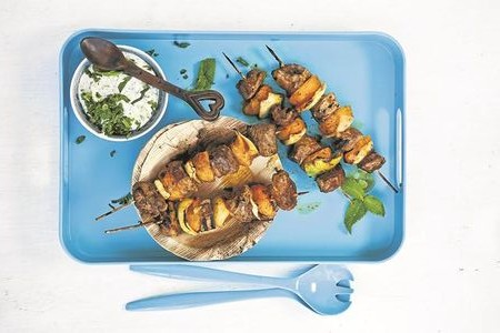 Curried Lamb Kebabs Combo