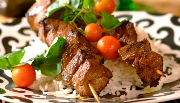 Lamb on skewers