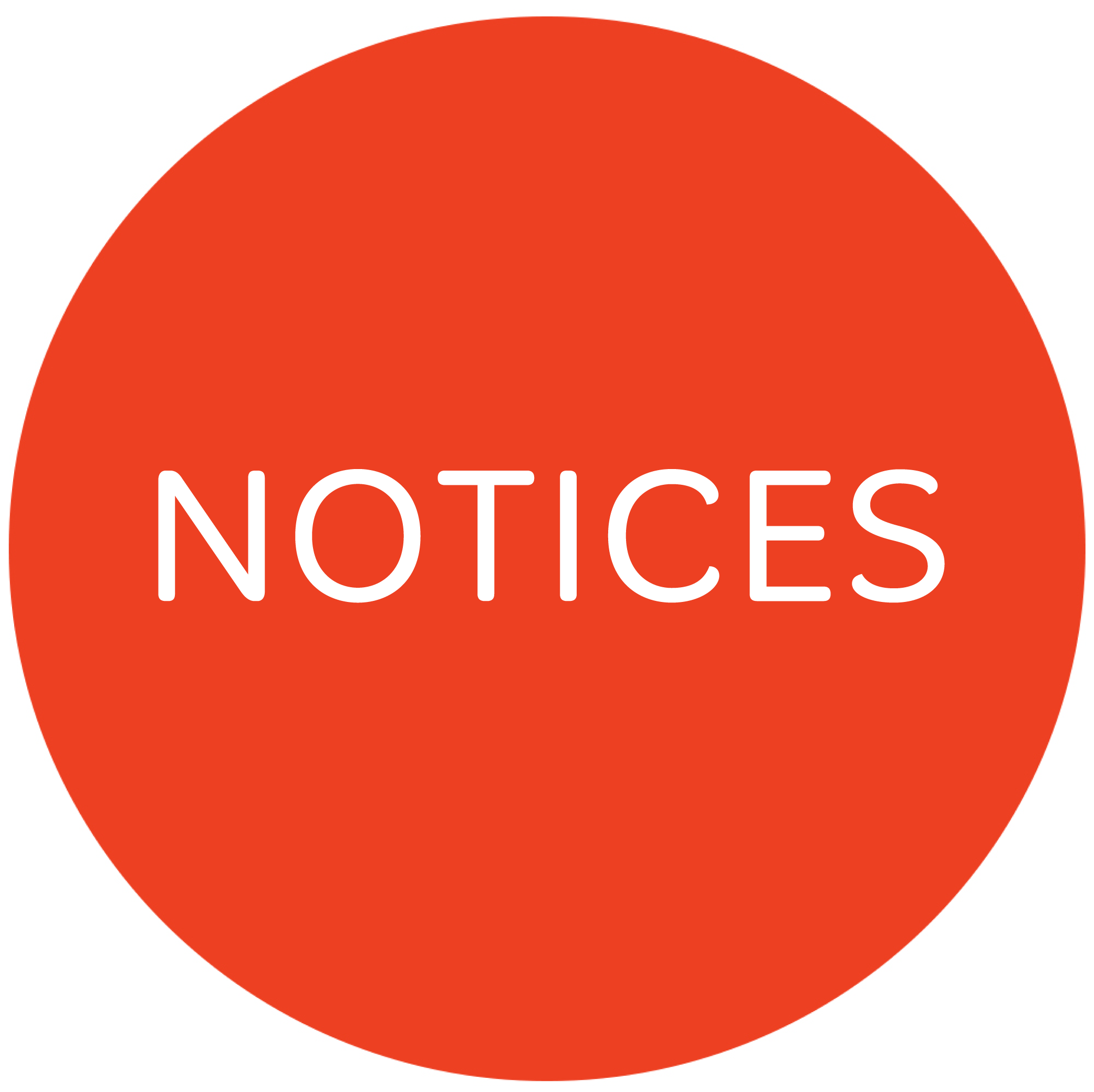 Notices- 12 May 2019