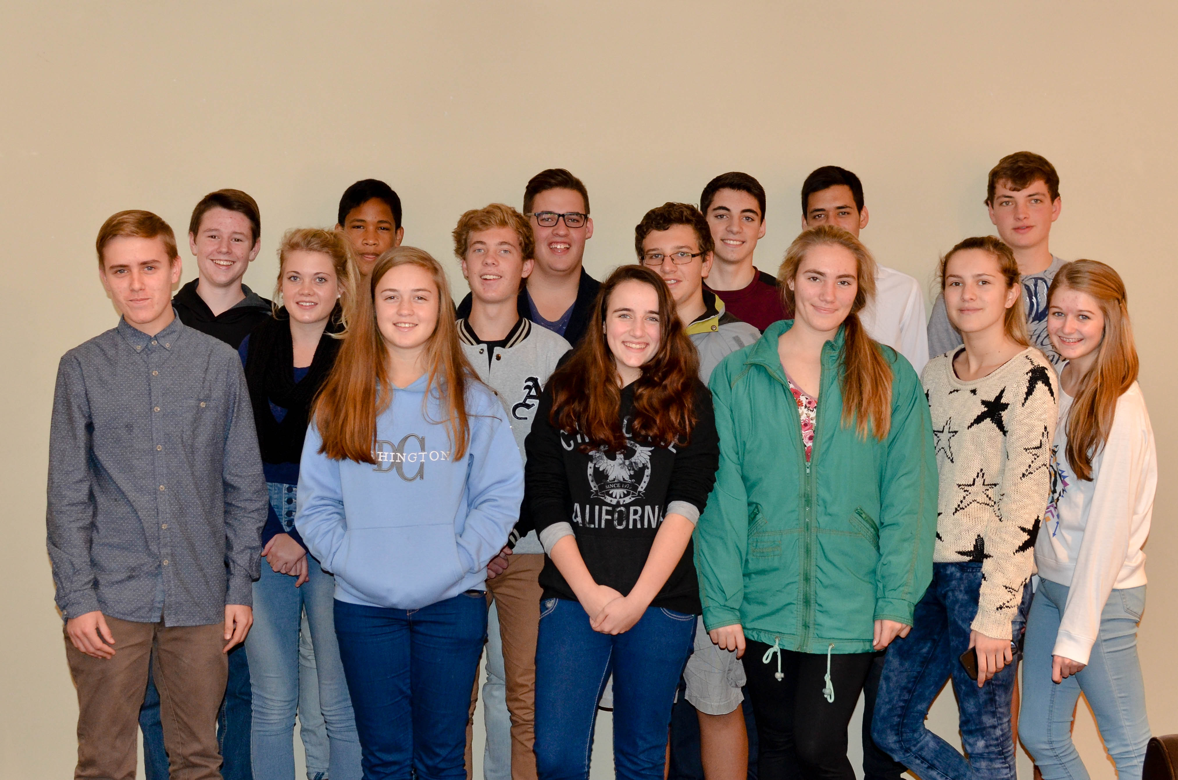Meet the Confirmation Group for 2015