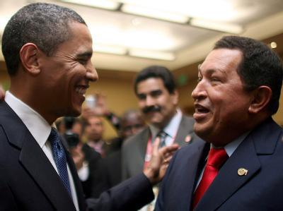 Barack Obama und Hugo Chávez
