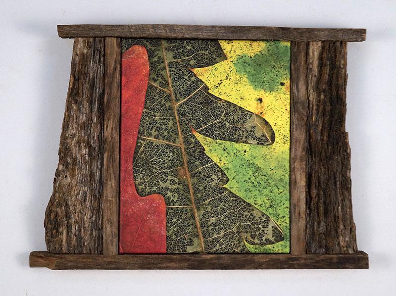 Leaves After Tanguy Framed