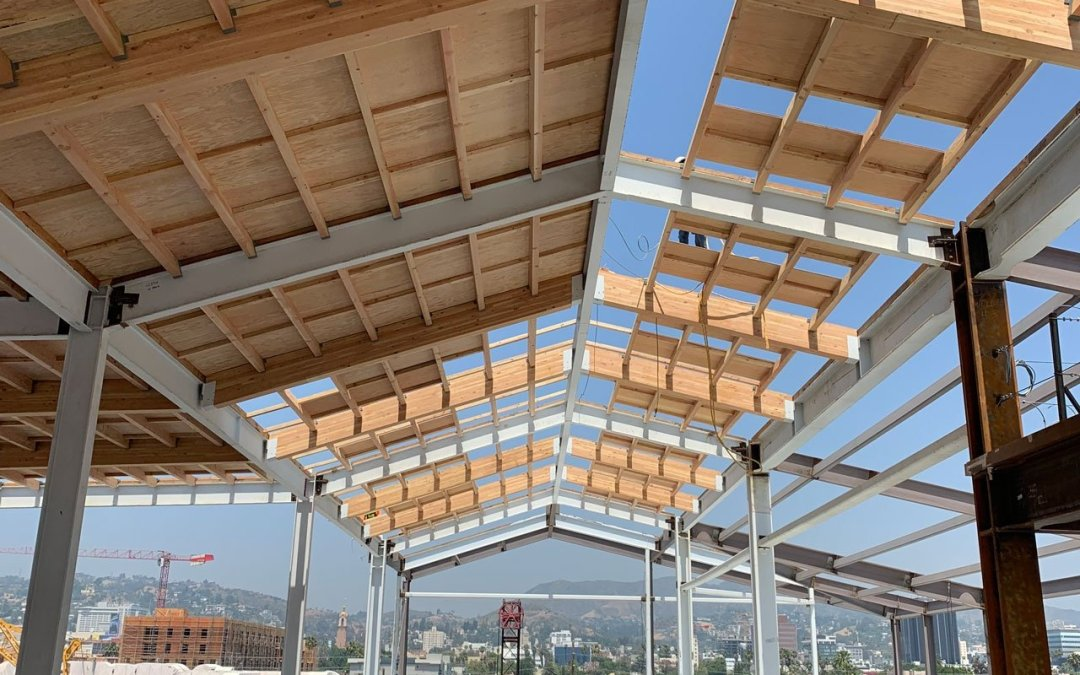 Wood Roof Construction, Sunset Las Palmas Studios