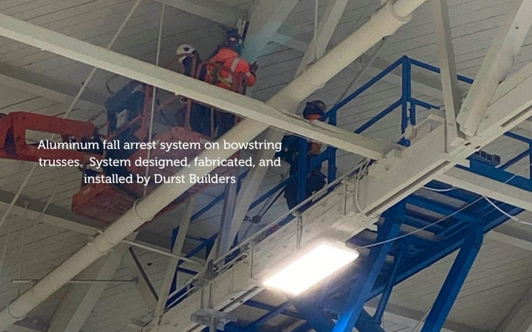 Roof Truss Fall Arrest System Installation