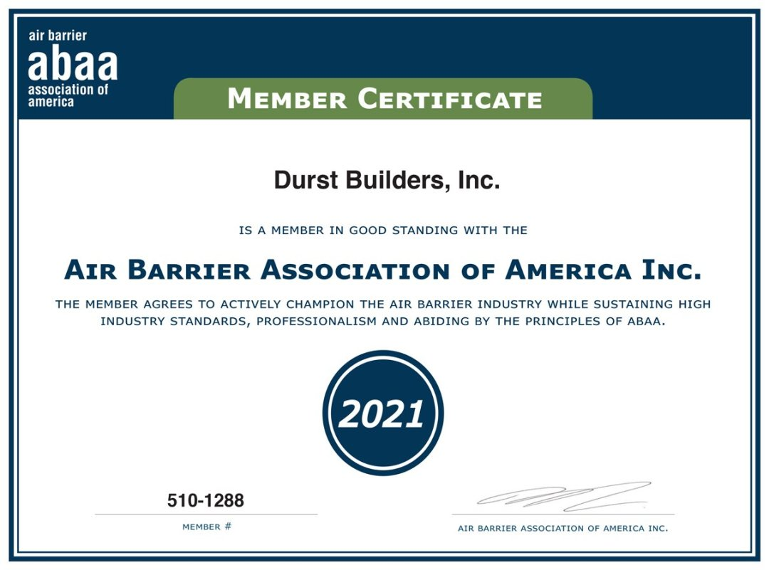 Air barrier Association of America ABAA member