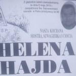 Zmarła śp. Helena Hajda
