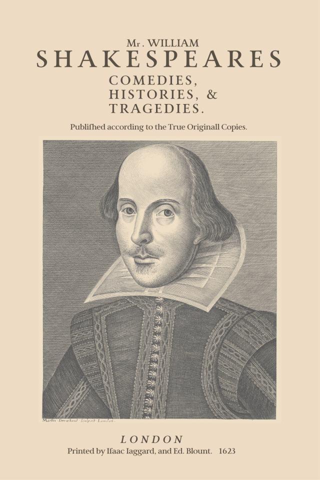 Shakespeare First Folio, Martin Droeshout