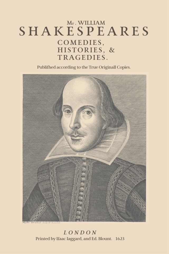 Shakespeare First Folio, Martin Droeshout