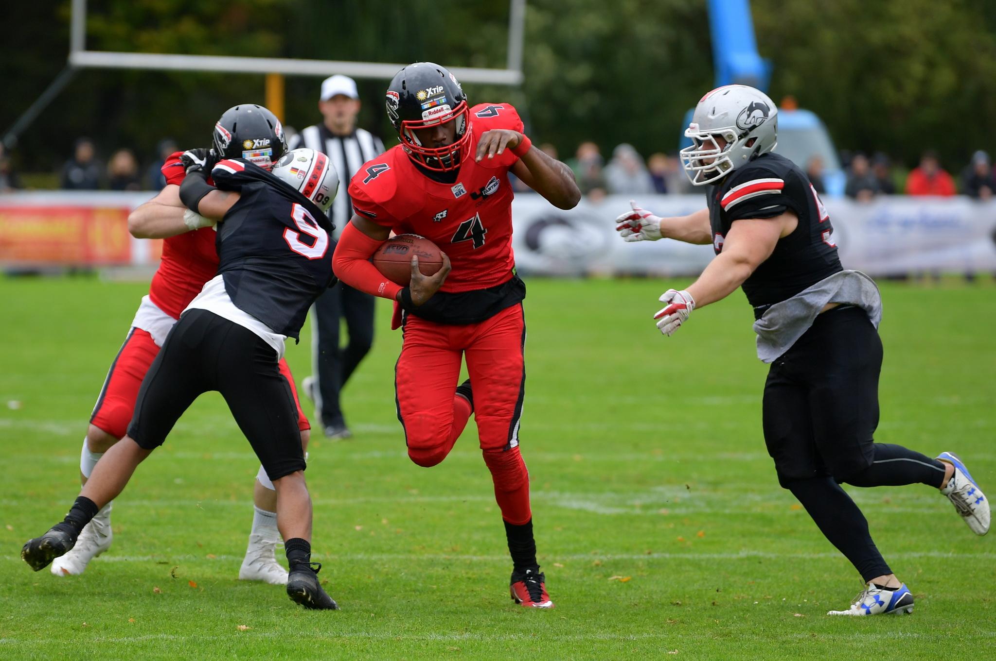 Panther vs. Huskies 36:10 in Hamburg – Panther stehen kurz vor dem Aufstieg…