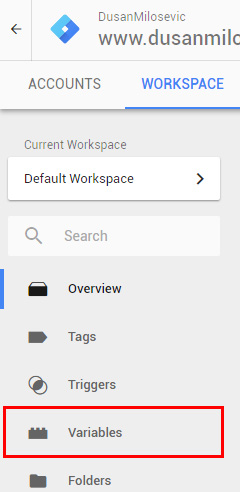 google tag manager gtm variables